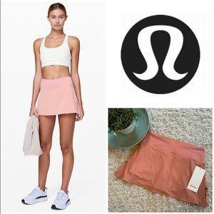 Lululemon Play Off Pleats Skirt Run Skort Shorts